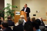 Max Fajardo, retired Aviation Deputy Director, speaking at the Richard H. Dick Judy Celebration of Life luncheon