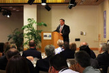 Marketing Division Director Chris Mangos speaking at the Dick Judy Celebration of Life luncheon