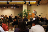 Greater Miami Convention & Visitors Bureau President and CEO Bill Talbert speaking at the Dick Judy Celebration of Life