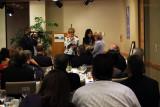 Dickie K. Davis and Marcia Fernandez-Morin presenting gifts to Sonja R. Judy
