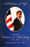 Cover of the Dick Judy Celebration of Life program