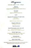 Program for the Richard H. Dick Judy Celebration of Life luncheon