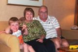 July - Karen, our grandson Kyler and Don at Embassy Suites, Denver International Airport