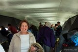 September 2011 - Karen at the top of the Gateway Arch in St. Louis