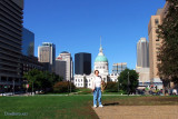September 2011 - Karen at downtown St. Louis