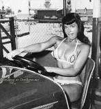 1954 - famous pin up model Bettie Page modeling at Funland Park on NW 27th Avenue, Miami