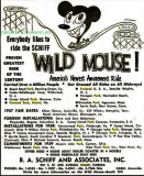 1957 - an ad for the Schiff manufactured Wild Mouse roller coaster such as the one at Funland Park in Miami