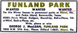1958 - an advertisement for Funland Park in Miami in The Billboard