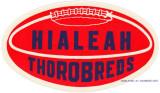 1960's - Hialeah High Thorobreds decal