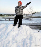 2011 - Kyler after his mom took him sledding on a hill near their home on Christmas Day afternoon