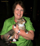 December 2011 - Karen with our young kitten Cocoa