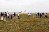 2012 MIA Airfield Tour - bus #2 tour group with ATI B767 landing on runway 30 in the background