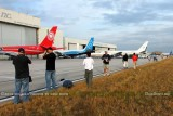 2012 MIA Airfield Tour - bus #2 tour group photographing a variety of aircraft on MIA's north side (old Eastern base)