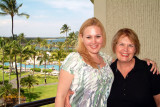July 2009 - Karen and Donna on our balcony at the Waikoloa Beach Marriott