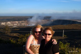 July 2009 - Donna and Karen at the Kīlauea volcano on the Big Island