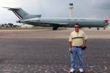 March 2012 - my old Coast Guard Reserve buddy Chet Gay and Mexican Air Force B727-200 at Opa-locka Executive Airport