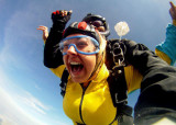2012 - our niece Lisa Criswell skydiving over Utah