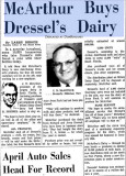 1962 - Miami News article about McArthur Dairy buying out Dressel's Dairy on Milam Dairy Road west of the airport