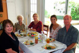 April 2012 - Karen, Esther, Wendy, Lauren Hagar and Jim Hagar at our Easter lunch at Wendy and Jim's home