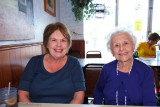 April 2012 - Karen and her mom Esther having a great lunch at Plaka Restaurant in Tarpon Springs