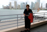 April 2012 - Karen with the new commissioned USCGG BERNARD C. WEBBER (WPC-1101) at the Port of Miami