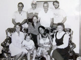 Early 1980's - Don, Uncle John, James Criswell, Jim Criswell, Karen C., Karen D, Wendy Criswell, BJ with David, and Esther
