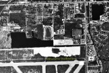 1969 - aerial view of the Turnpike Drive-In on NW 27th Avenue north of Master's Field