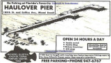 1960's - advertisement for Haulover Pier