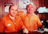 1970's - Pete Janowitz and his dad at Jano's Sandwich Sub Shop in the Palm Lakes section of northwest Hialeah