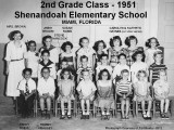 1951 - a 2nd grade class at Shenandoah Elementary in Miami