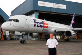 June 2012 - Russ Martin with a FedEx B757 converted package freighter in Singapore