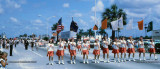 Late 1960's / early 1970's - a parade on Palm Springs Mile (W. 49th St.) in Hialeah with the Royal Castle visible in background