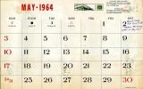 Mike Murnane's May 1964 calendar