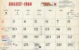 Mike Murnane's August 1964 calendar