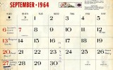 Mike Murnane's September 1964 calendar