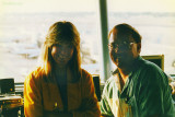 March 1992 - Brenda and Don in the E-Tower at Miami International Airport