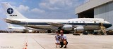 1993 - LCDR Leroy Smith USCGR and his young son Matthew Smith in front of a Varig B747-300 at MIA
