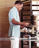 1984 - the legendary Bill Haast giving a coral snake venom extraction demonstration at the Miami Serpentarium