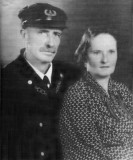 1930s - Fowey Rocks Lighthouse Keeper Hamilton Hamp Sharpe Perry and his wife Carrie Bell Conley Perry