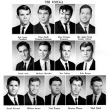 1966 - a bunch of Hialeah boys in the Tri Omega fraternity at Miami-Dade Junior College