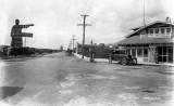 1922 - Hialeah welcome sign on County Road (later Okeechobee Road) and 1st Street