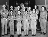 1962 - St. Johns Boy Scout Troop 302 receiving Ad Altari Dei Award at St. Mary's Cathedral