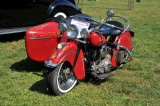 1948 Indian Chief motorcycle with sidecar