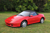 Spectator's 1990s Lotus Elan, photographed after most auto show attendees had left
