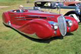 1939 Delahaye Type 165 Cabriolet by Figoni & Falaschi at the 2009 Meadow Brook Concours d'Elegance in Michigan