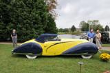 1938 Talbot Lago T150-C Cabriolet by Figoni & Falaschi, J.W. Marriott, Jr.,  2008 St. Michaels Concours d'Elegance, Md. (4338)