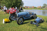 1929 Bugatti Type 45 16-cylinder Grand Prix race car, with toy replica, 2008 St. Michaels Concours d'Elegance in Maryland (4410)