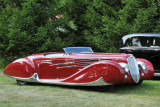 1939 Delahaye Type 165 Cabriolet by Figoni & Falaschi, at the 2009 Meadow Brook Concours d'Elegance, Rochester, Michigan (8109)