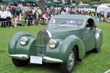 1939 Bugatti Type 57C Van Vooren Coupe, Peter & Merle Mullin of Los Angeles, at 2010 Pebble Beach Concours d'Elegance. (4050)