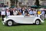 1933 Delage D8S De Villars Roadster, Patterson Collection, Louiseville, Ky., at 2010 Pebble Beach Concours d'Elegance. (4267)